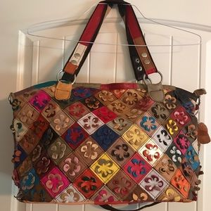 🌸Funky/Boho Leather Bag